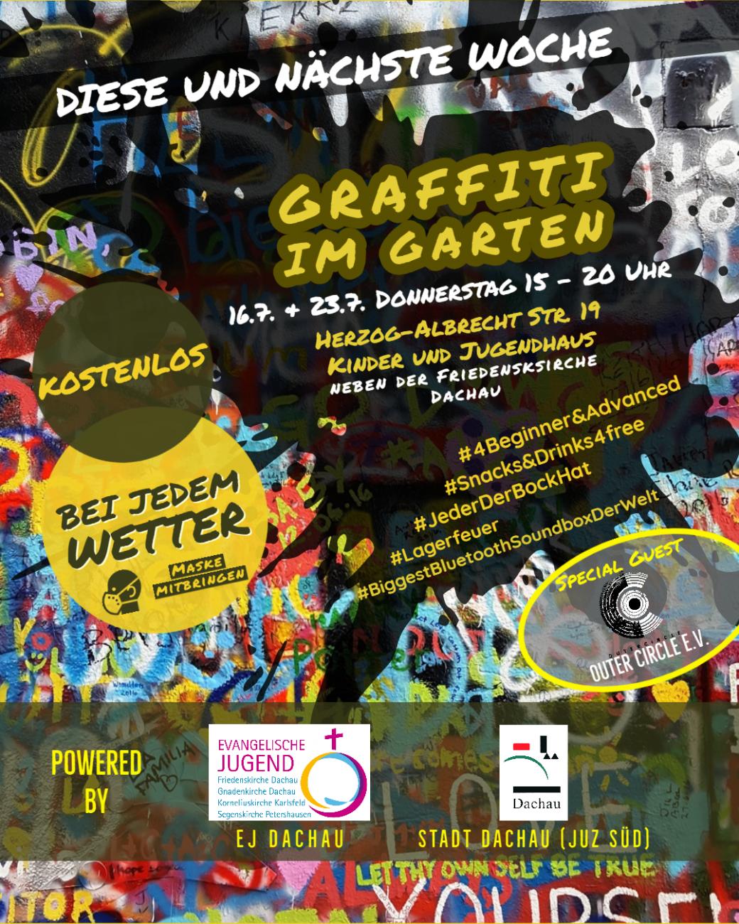 """Plakat """"Graffiti im Garten"""""""